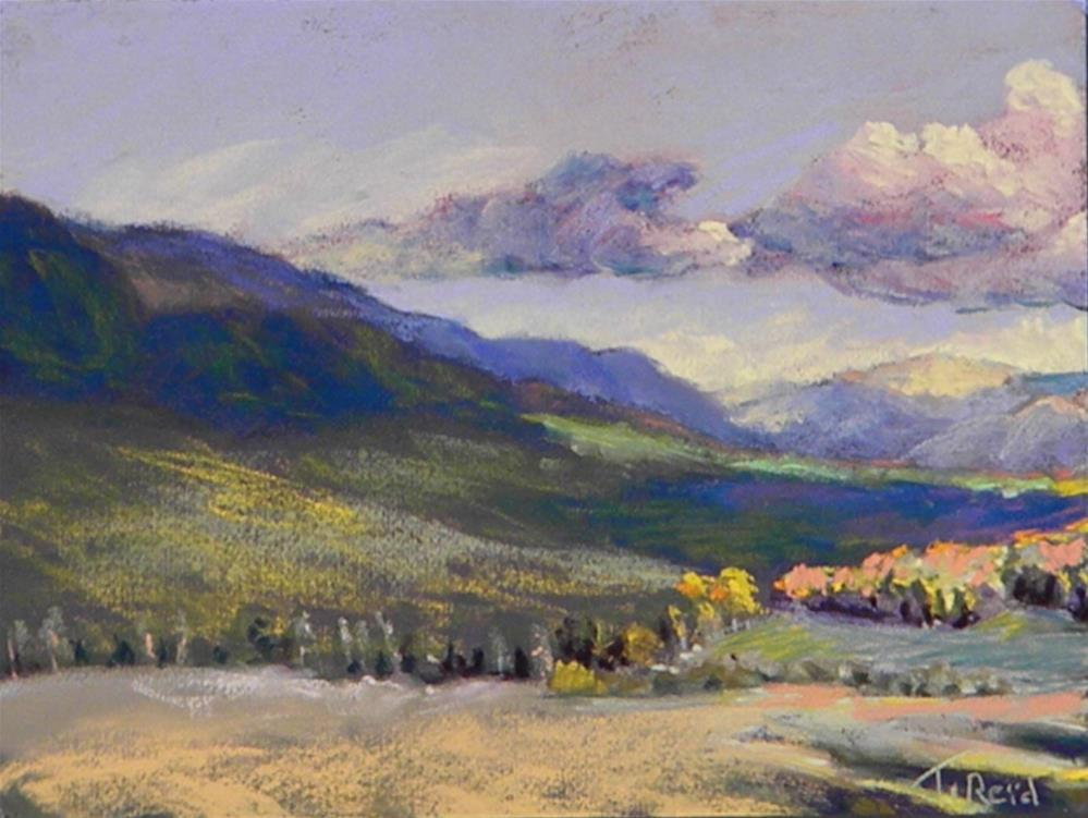 """Sun on the Valley"" original fine art by Toby Reid"