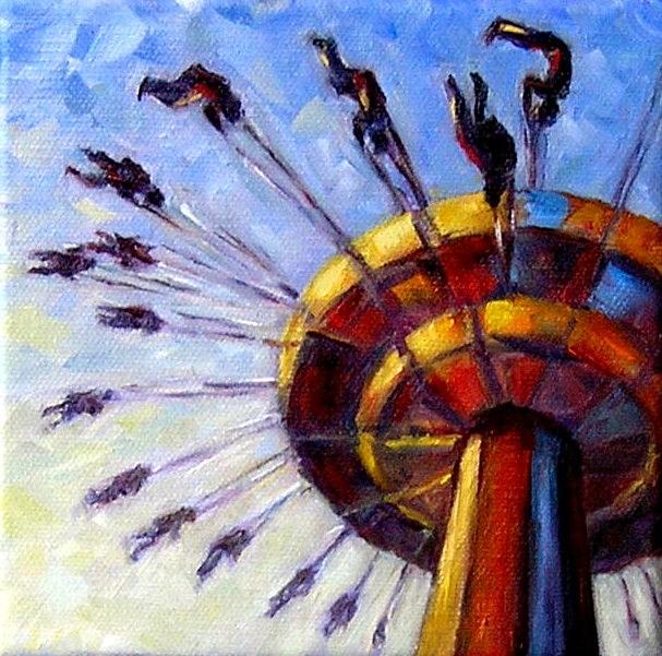 """Evening Ride"" original fine art by Irina Beskina"