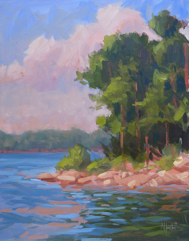 """Lake Lanier Sunset"" original fine art by Adam Houston"