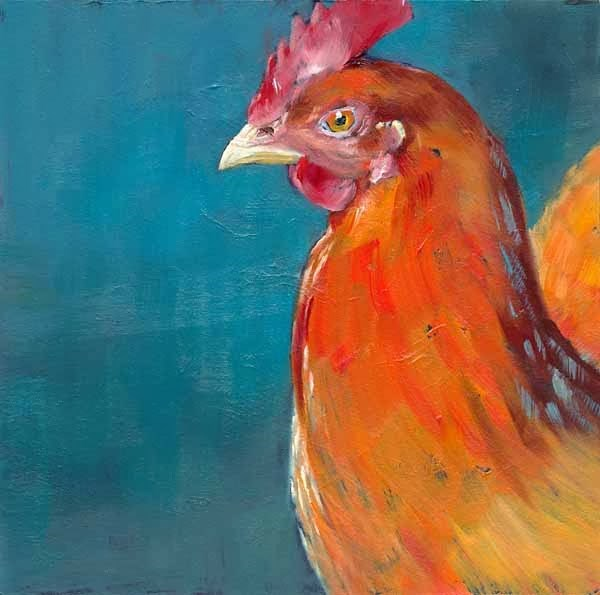 """Henny"" original fine art by Brenda Ferguson"