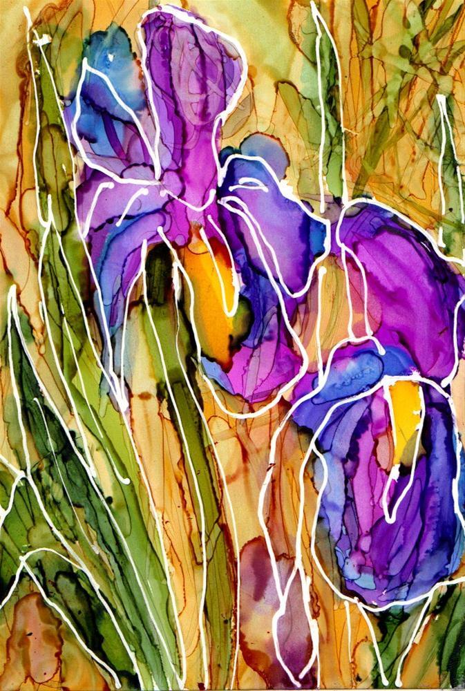 """""""Iris 1"""" original fine art by Kristen Dukat"""