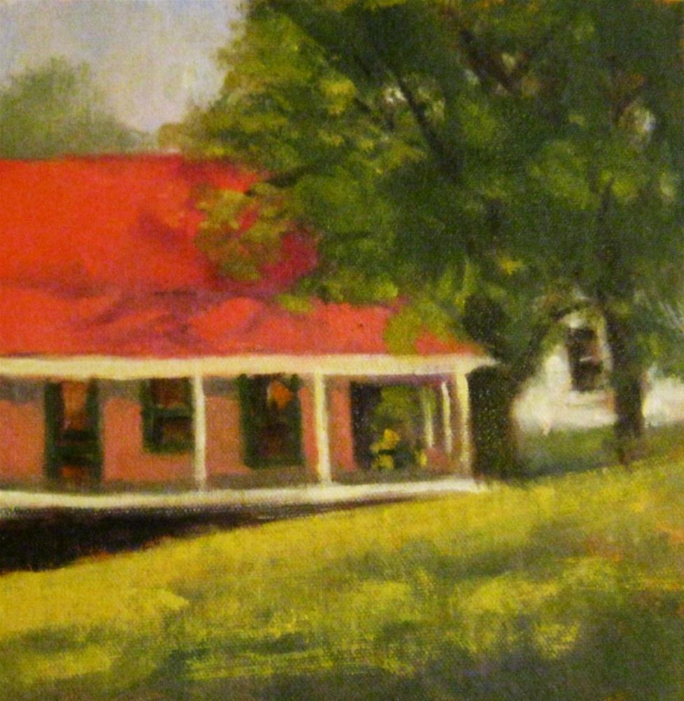 """Cottage, Nimrod Hall, Virginia"" original fine art by Connie Snipes"