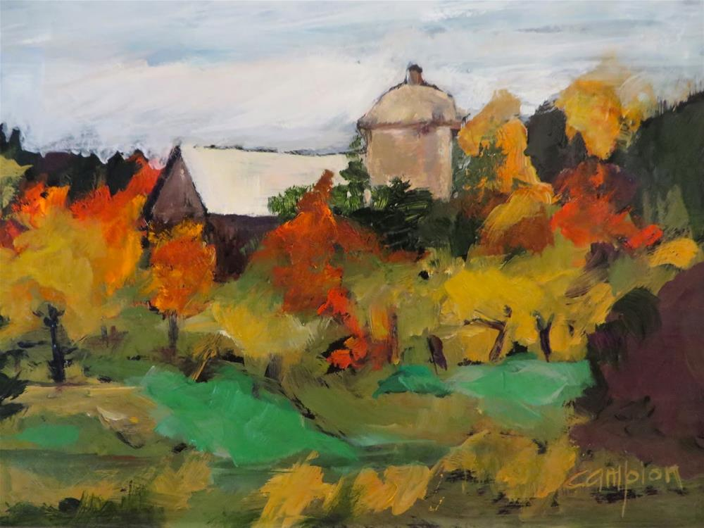 """713 Somewhere in Door County"" original fine art by Diane Campion"