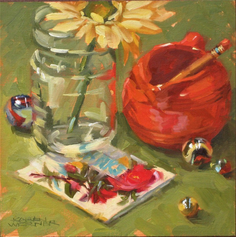 """Patty's Pitcher"" original fine art by Karen Werner"