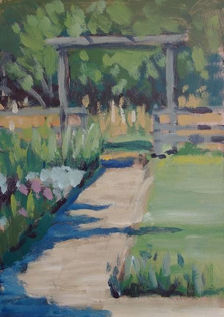 """""""Garden Pathway"""" original fine art by J. Farnsworth"""