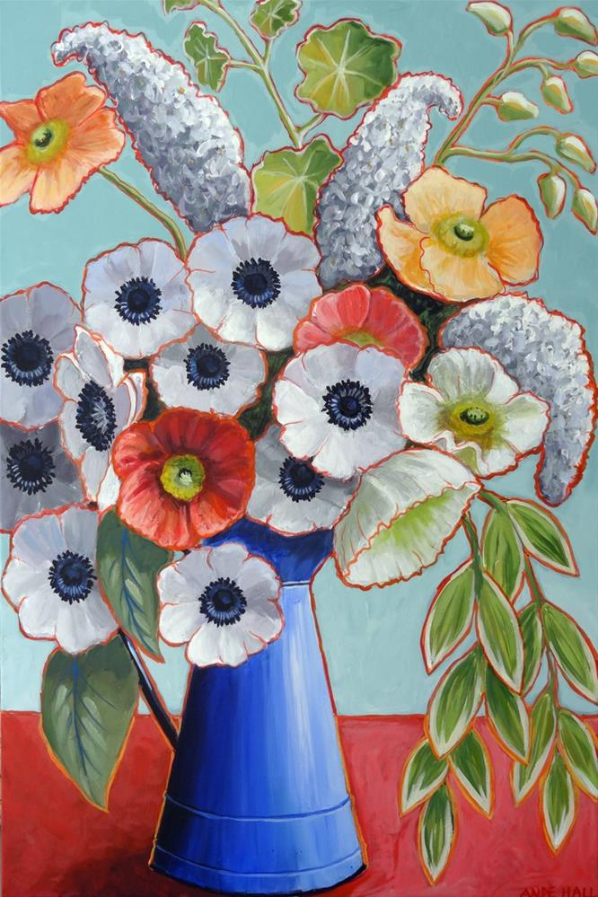 """A Pitcher of Anenomes"" original fine art by Ande Hall"