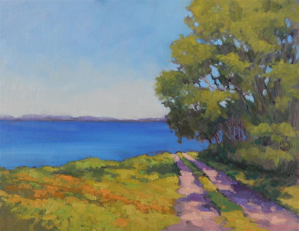 """The Road to the Sea"" original fine art by Lisa Kyle"