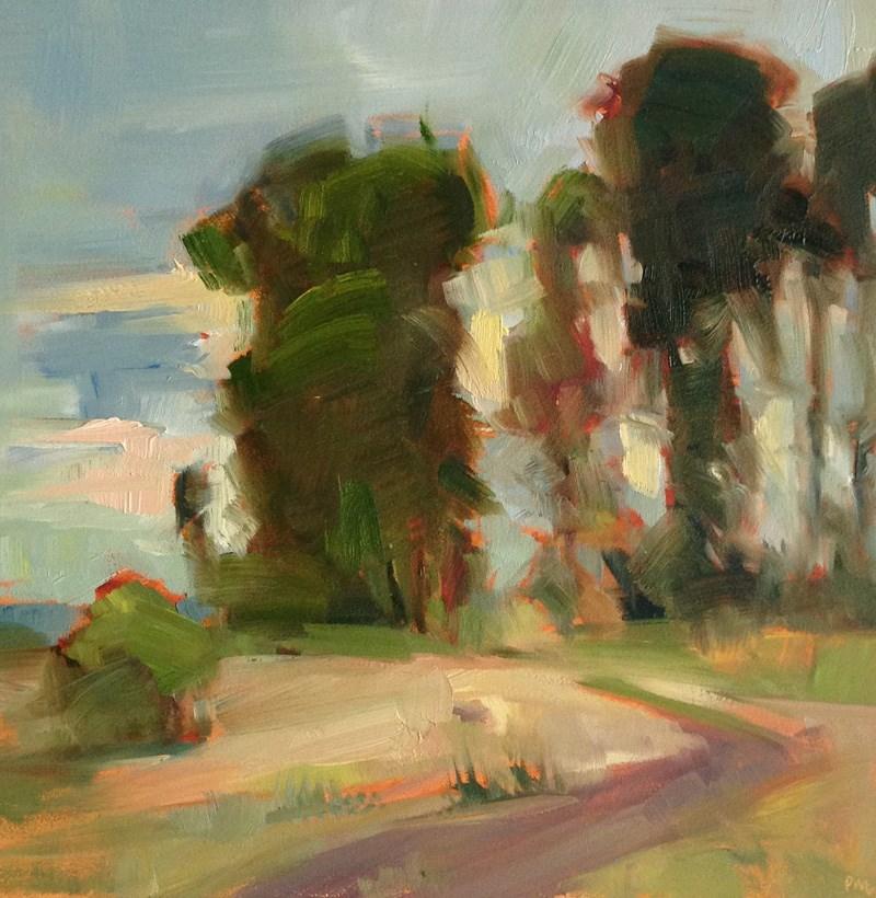 """A Square of Sunset"" original fine art by Patti McNutt"