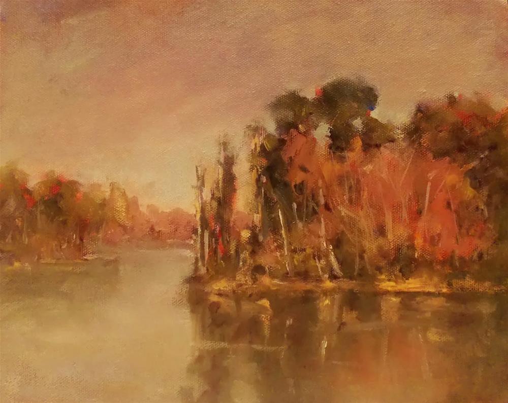 """FALL TIME LAKE "" original fine art by Doug Carter"