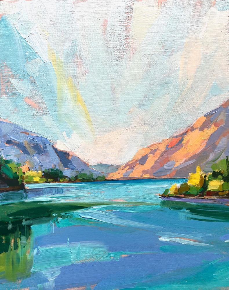 """The Gorge"" original fine art by Cathleen Rehfeld"