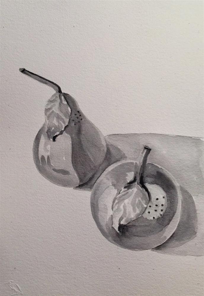"""Salt and Pepper"" original fine art by Maggie Flatley"