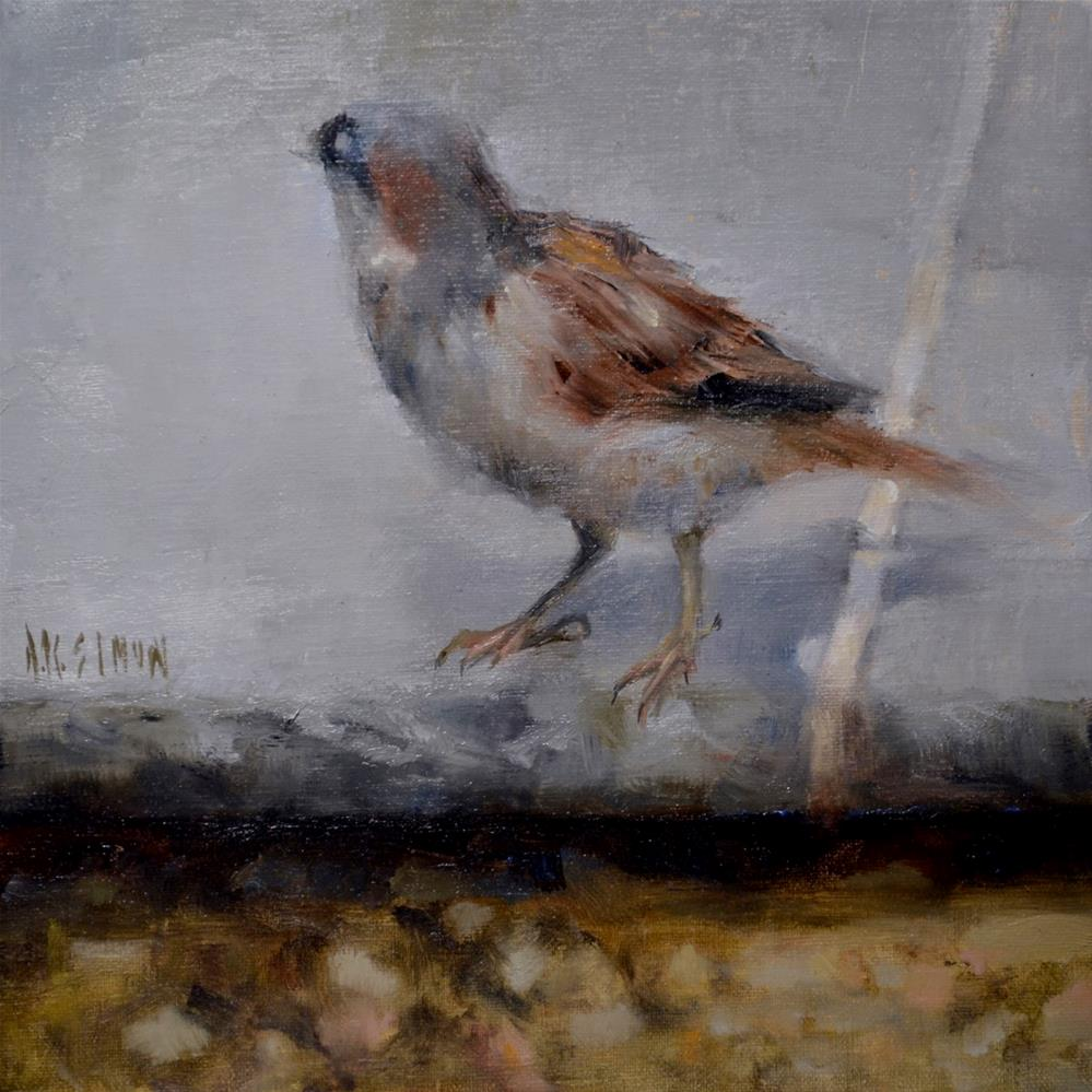 """""""And the Sparrow Watches Me"""" original fine art by A.K. Simon"""