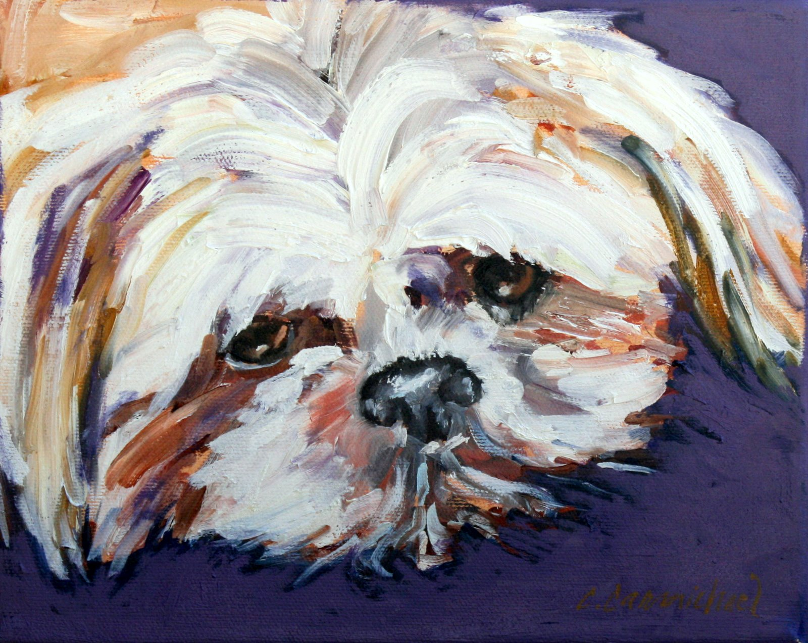 """Marshall Tucker"" original fine art by Carol Carmichael"