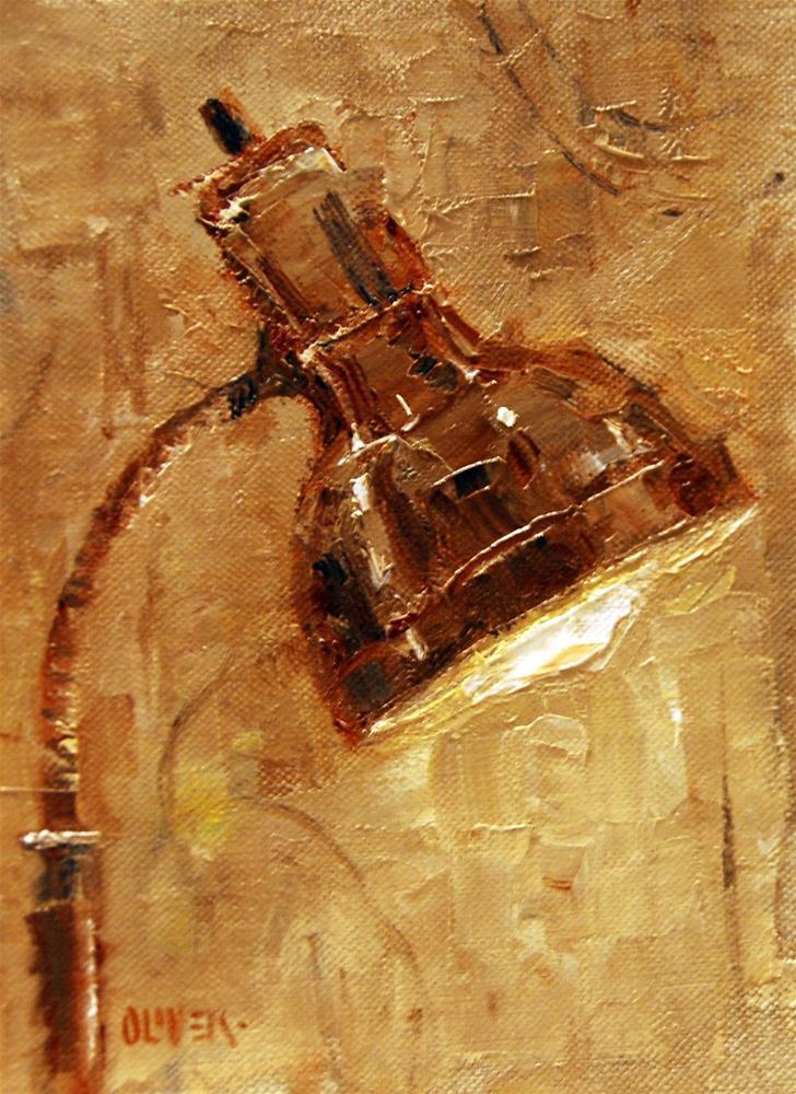 """""""Goose-neck Study"""" original fine art by Julie Ford Oliver"""