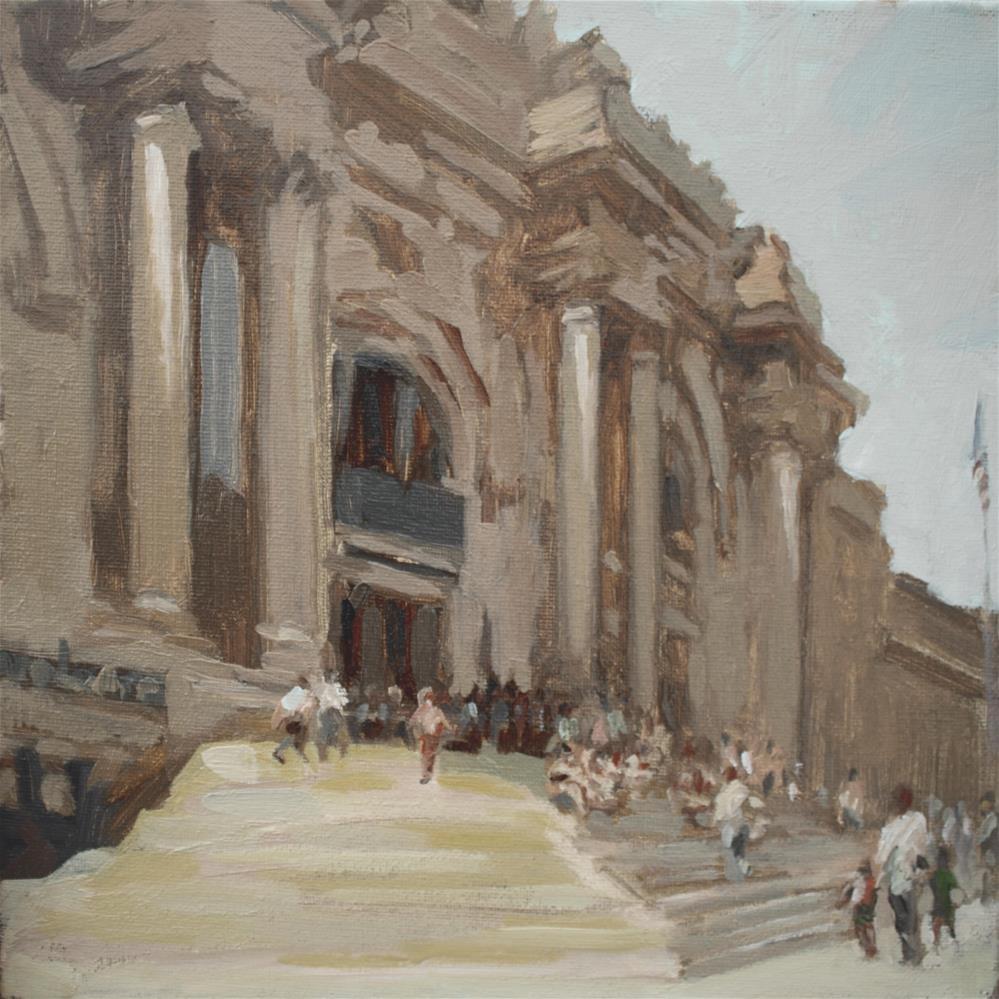 """The Metropolitan Museum of Art"" original fine art by Yuehua He"