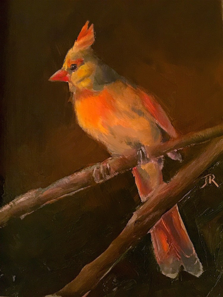 """Night Watch"" original fine art by June Rollins"