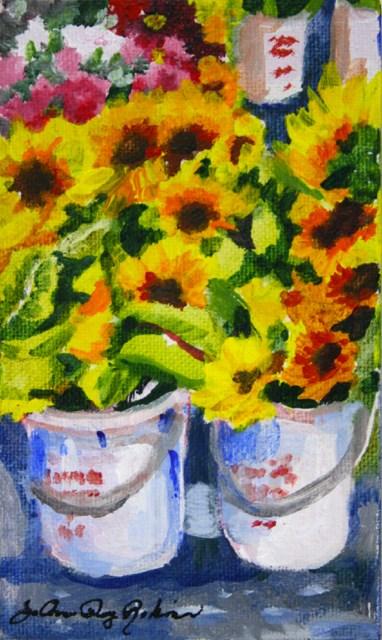 """""""Summer in buckets"""" original fine art by JoAnne Perez Robinson"""