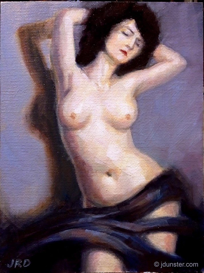 """Vintage Nude #2 [STUDIO SALE SERIES]"" original fine art by J. Dunster"