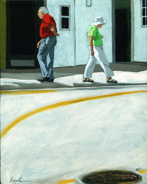 """Different Directions"" original fine art by Linda Apple"