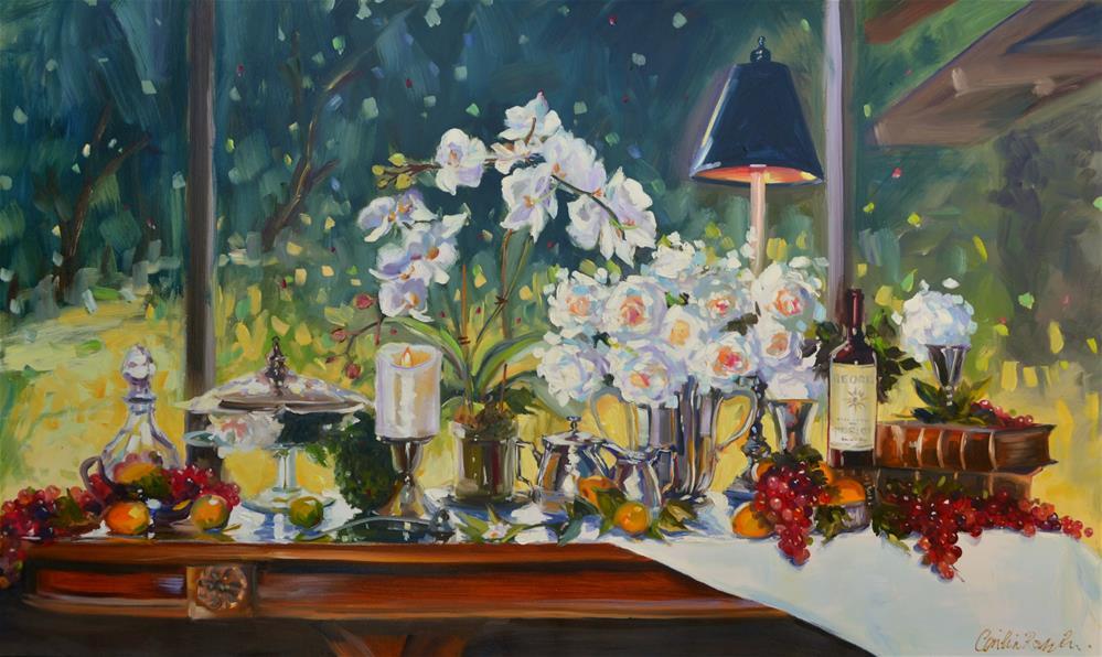 """CAROLYN'S REFLECTIONS"" original fine art by Cecilia Rosslee"