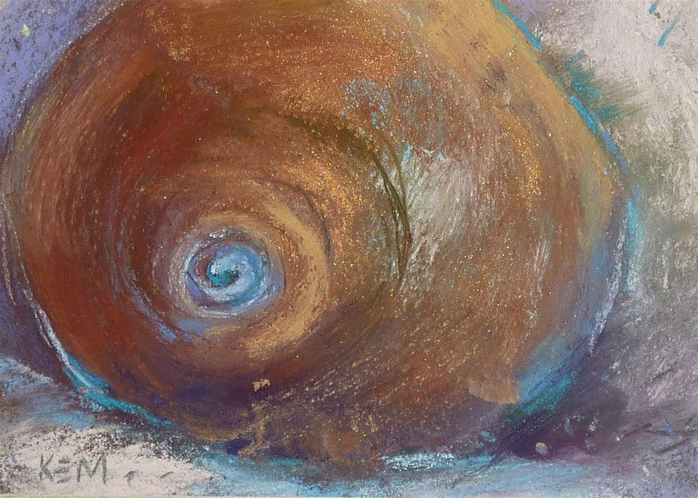 """What Can a Sea Shell Teach you about Painting?"" original fine art by Karen Margulis"