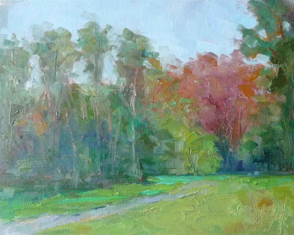 """First Tree of Fall in Virginia"" original fine art by Carol Josefiak"