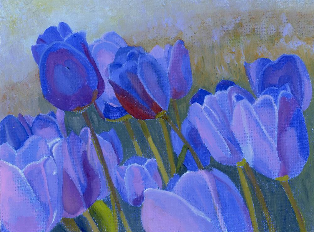 """Gail's Garden"" original fine art by Nancy Herman"