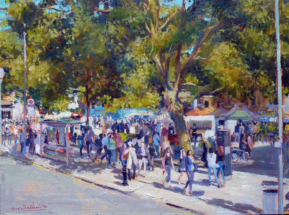 """Summer Shadows, Duke of York Square"" original fine art by Adebanji Alade"