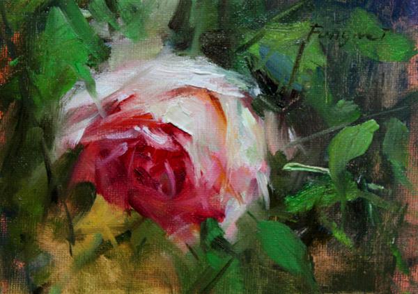 """""""Rose 2"""" original fine art by Fongwei Liu"""