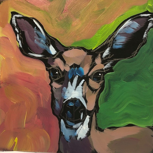 """All Ears, Little Deer"" original fine art by Kat Corrigan"