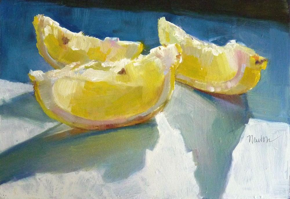"""Lemon Slices"" original fine art by Barbara Benedetti Newton"
