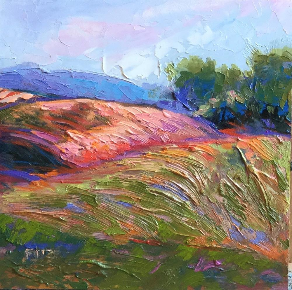 """Impasto Landscape Study 37"" original fine art by Charlotte Fitzgerald"