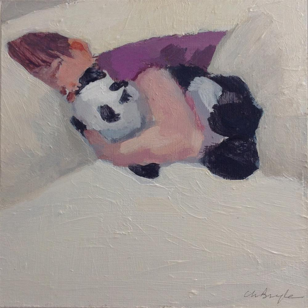 """Panda"" original fine art by Christine Bayle"