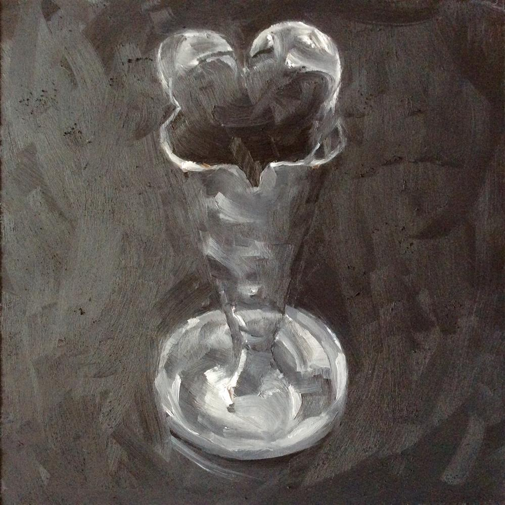 """Value study of silver vase"" original fine art by Paula Howson-Green"