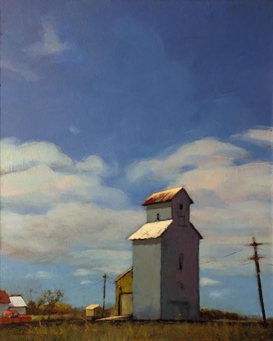 """Alongside Highway 30"" original fine art by Karin Jurick"