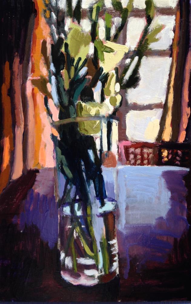 """Monochromatic Bouquet"" original fine art by Pamela Hoffmeister"