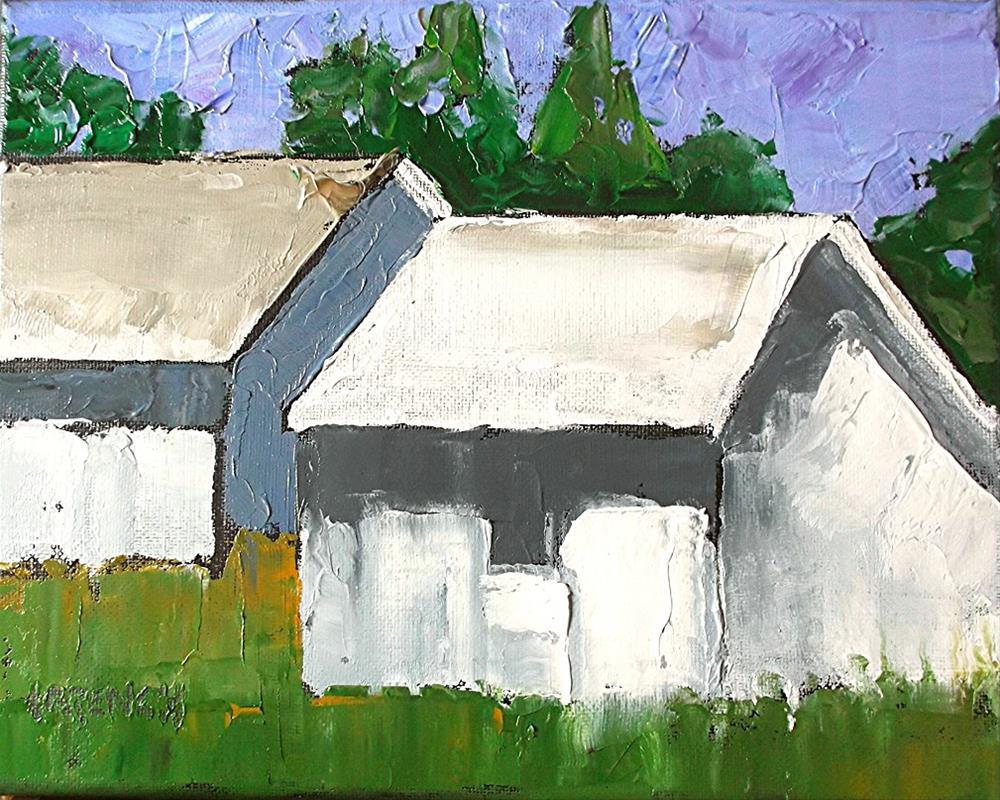 """""""California Summer Barns"""" original fine art by lynne french"""