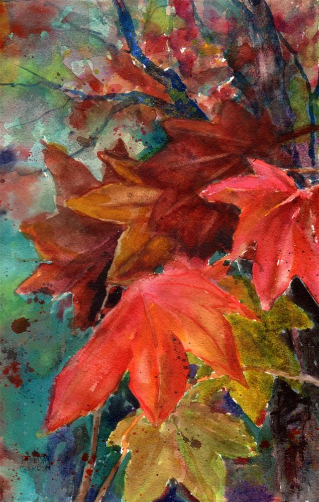 """Leaf Dance"" original fine art by Melissa Gannon"