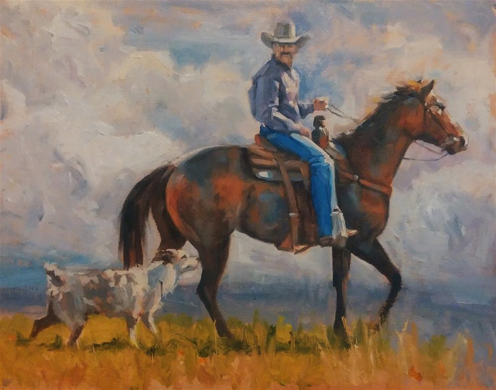 """Afternoon Ride"" original fine art by Rick Kennington"