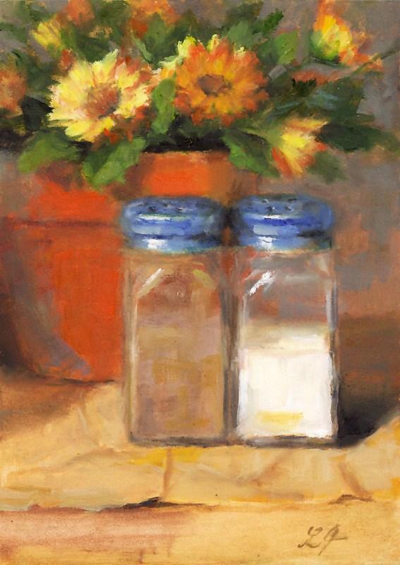 """Salt and Pepper"" original fine art by Linda Jacobus"