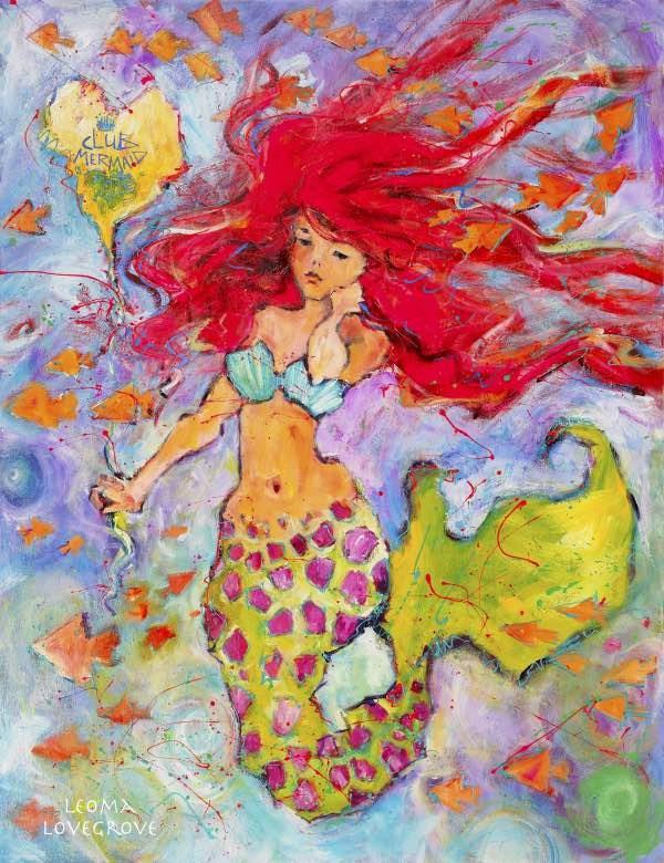 """Club Mermaid"" original fine art by Leoma Lovegrove"