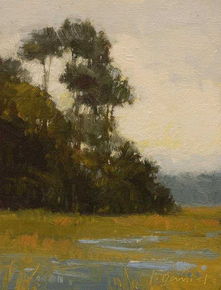 """""""Misty Marsh"""" original fine art by Laurel Daniel"""
