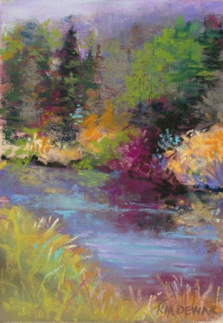 """Colorful Landscape-Study"" original fine art by Kay Dewar"