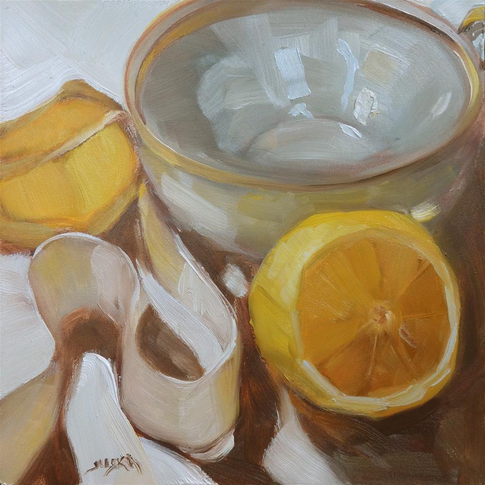 """""""Gold Rimmed Cup"""" original fine art by Elaine Juska Joseph"""