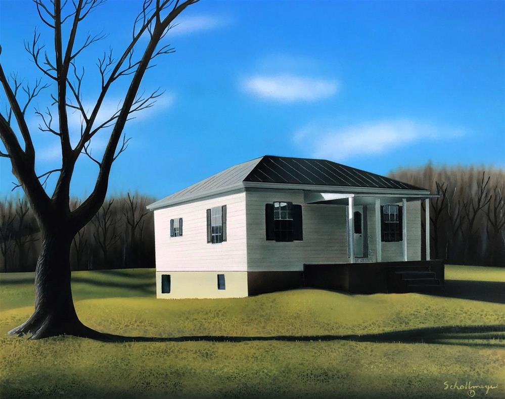 """House Near Dooling Creek"" original fine art by Fred Schollmeyer"