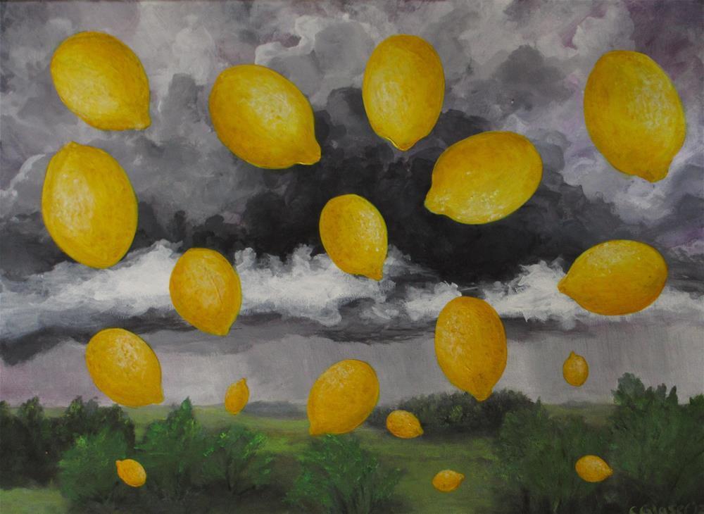 """Lemon Sky"" original fine art by christina glaser"