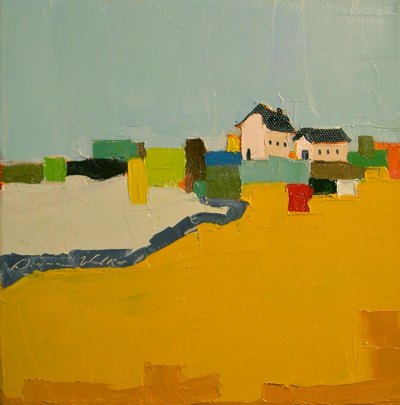 """Farm Quilt"" original fine art by Donna Walker"
