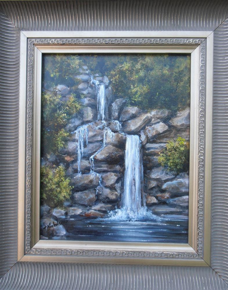 """Waterfall"" original fine art by Terri Nicholson"
