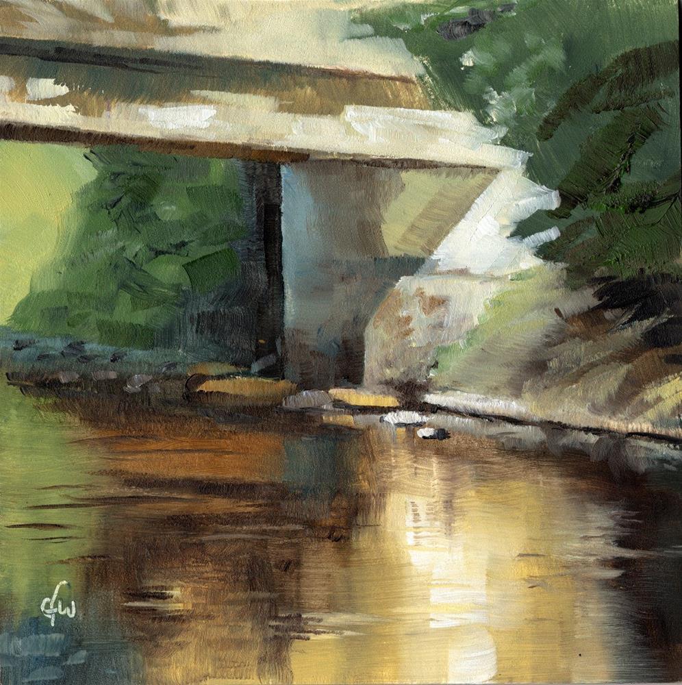 """""""Under the Bridge"""" original fine art by Gary Westlake"""