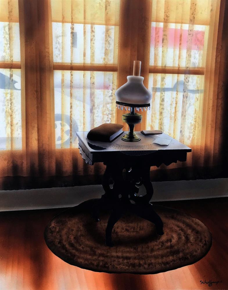 """""""Front Room (Mid-morning)"""" original fine art by Fred Schollmeyer"""